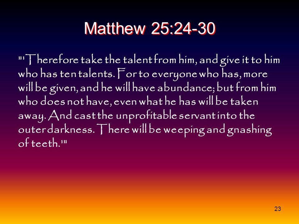Matthew 25:24-30
