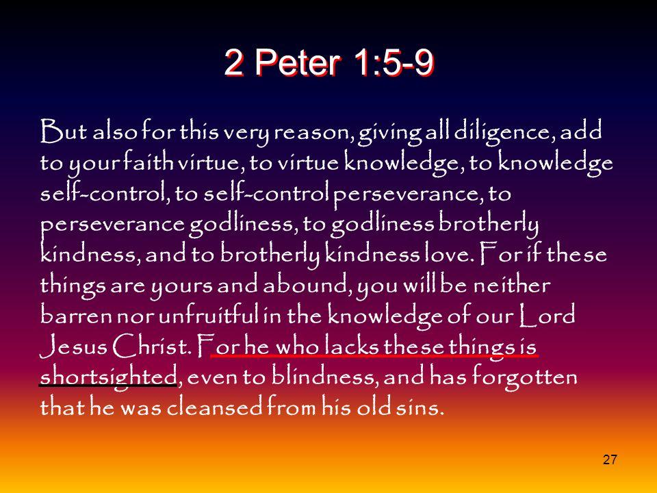 2 Peter 1:5-9