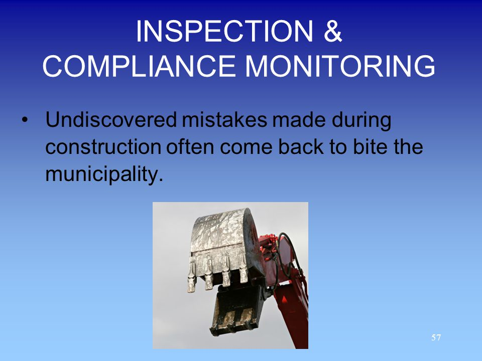 INSPECTION & COMPLIANCE MONITORING