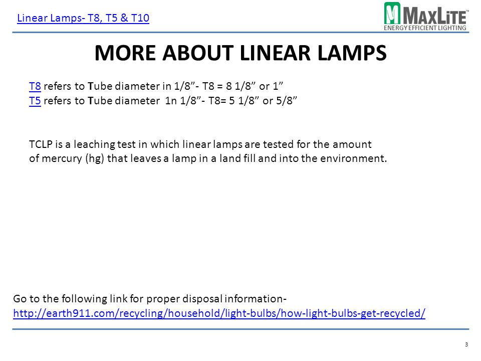 More about linear lamps