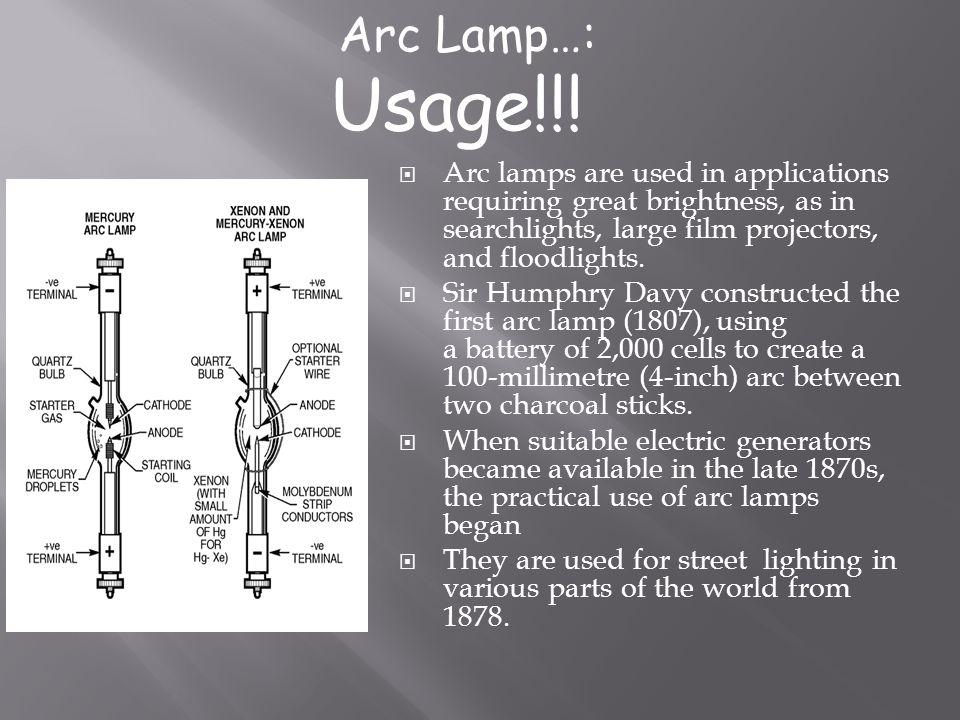 Arc Lamp…: Usage!!!