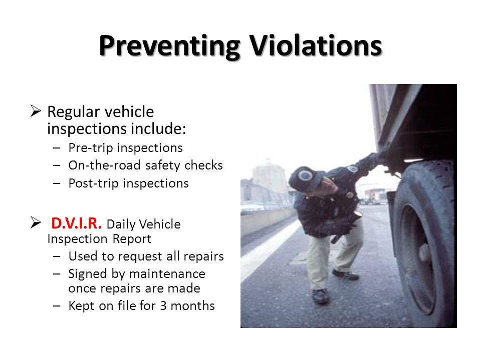 Preventing Violations