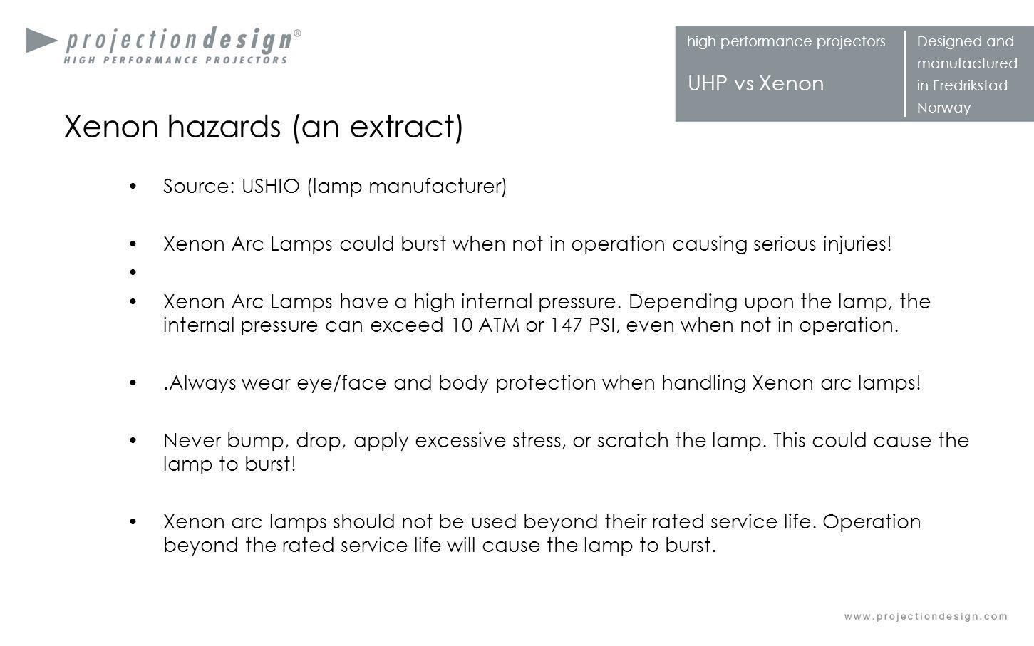 Xenon hazards (an extract)