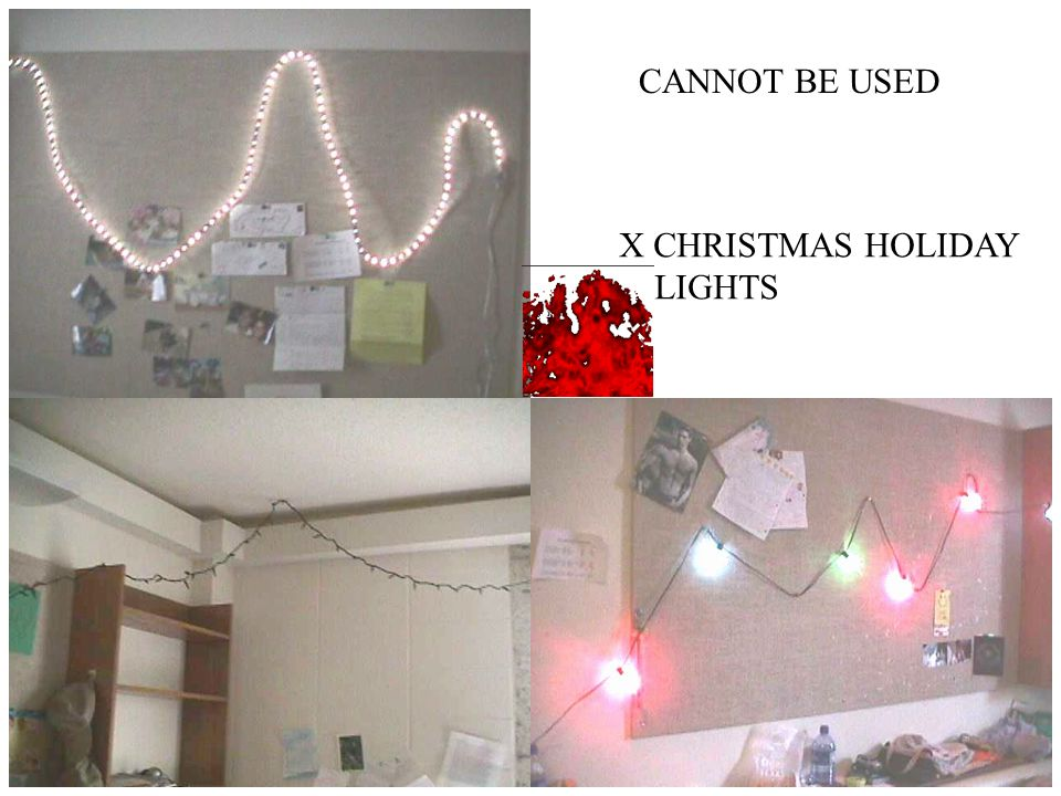 CANNOT BE USED X CHRISTMAS HOLIDAY LIGHTS