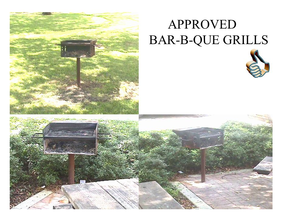 APPROVED BAR-B-QUE GRILLS