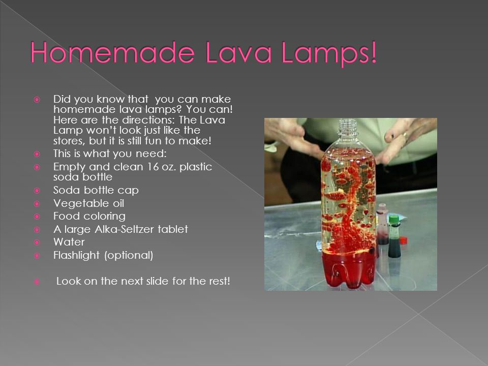 Homemade Lava Lamps!