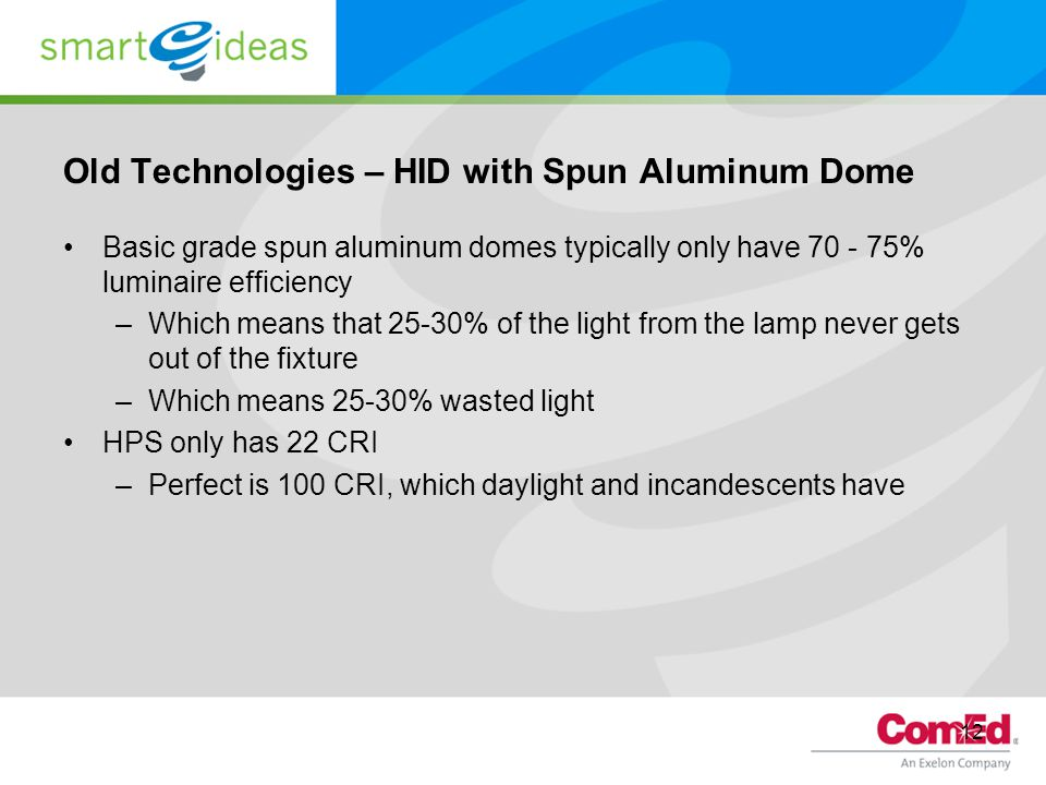 Old Technologies – HID with Spun Aluminum Dome