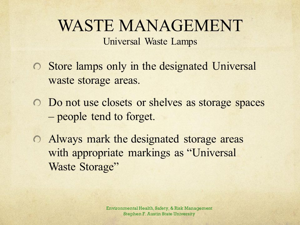 WASTE MANAGEMENT Batteries