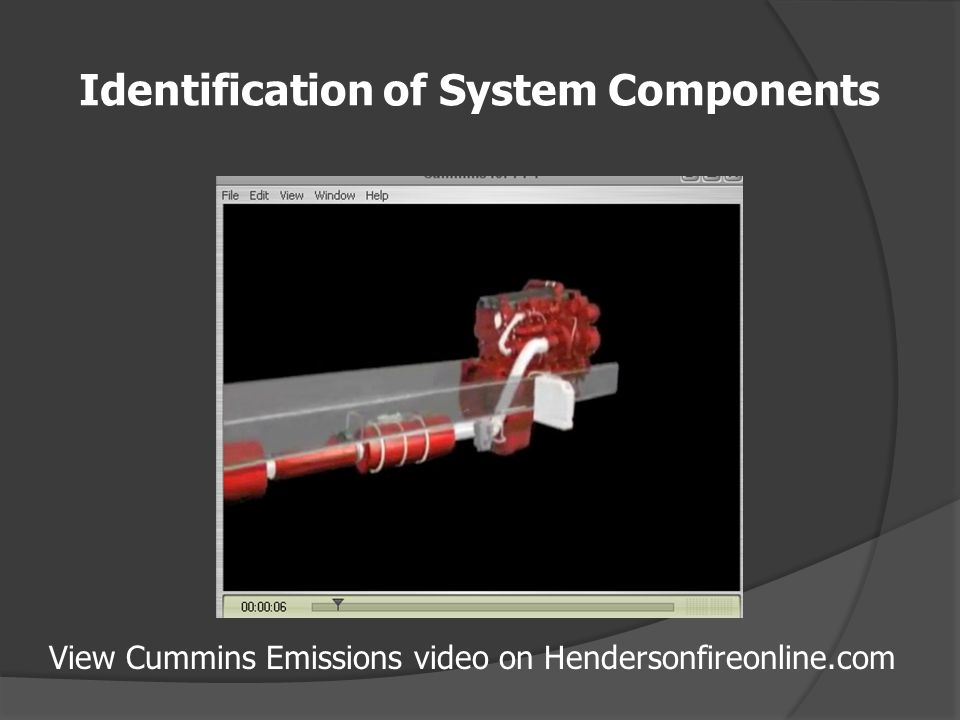 Identification of System Components