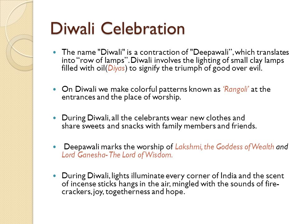 Diwali Celebration
