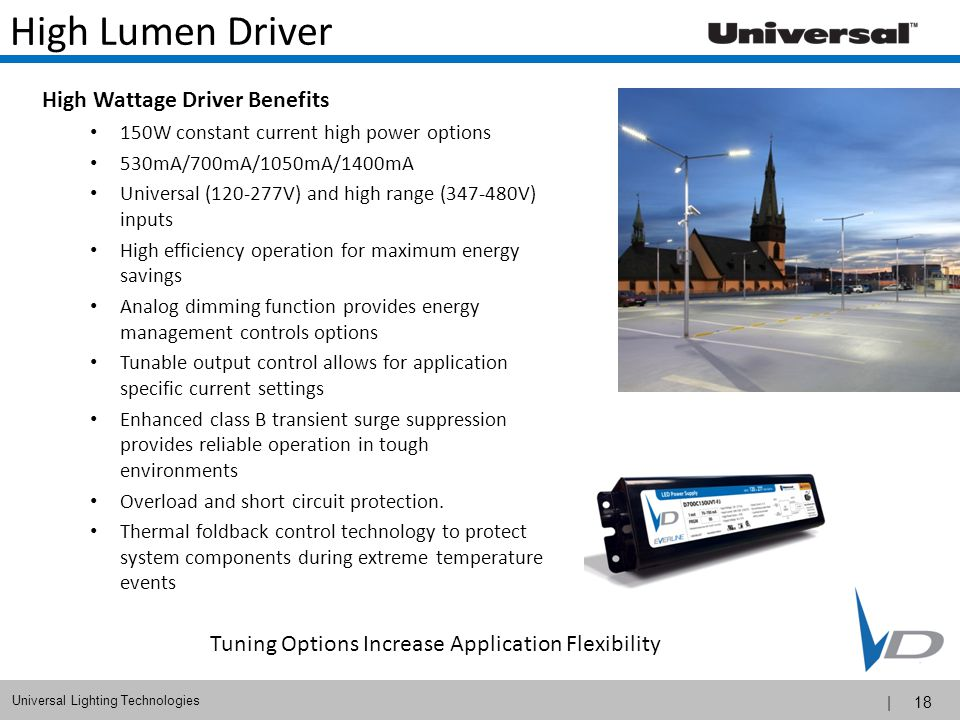 High Lumen Driver High Wattage Driver Benefits