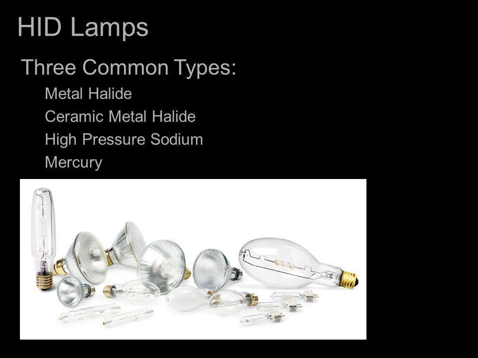 HID Lamps Three Common Types: Metal Halide Ceramic Metal Halide
