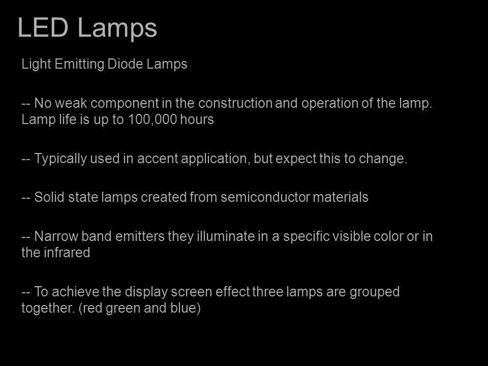 LED Lamps Light Emitting Diode Lamps
