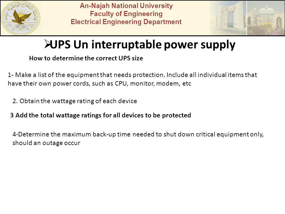 UPS Un interruptable power supply