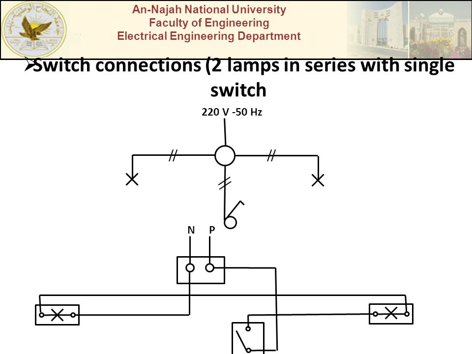 Switch connections (2 lamps in series with single switch