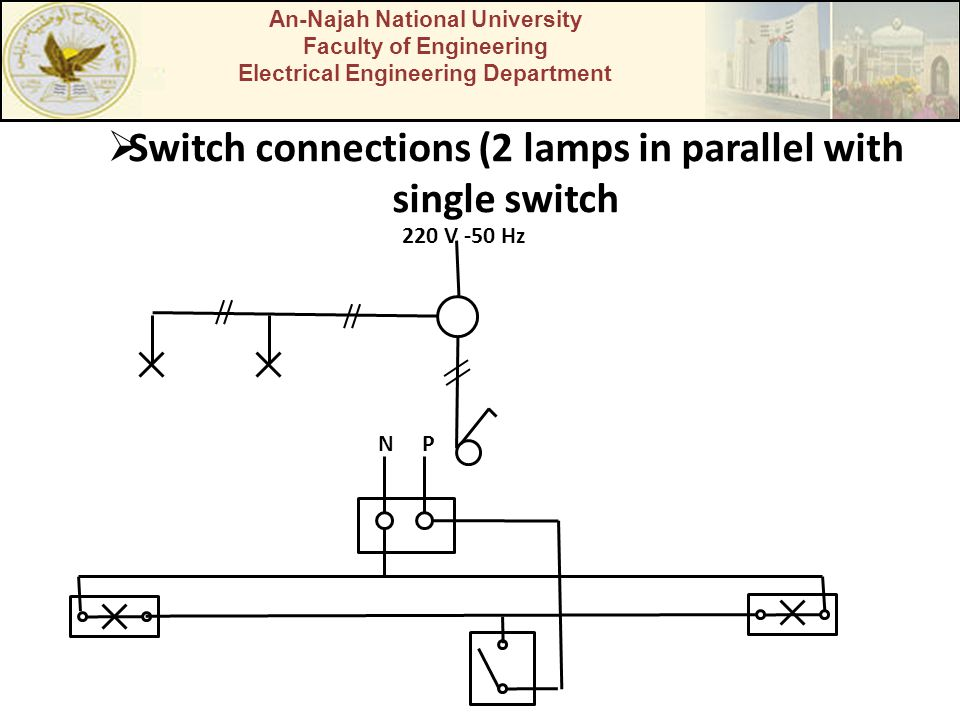 Switch connections (2 lamps in parallel with single switch