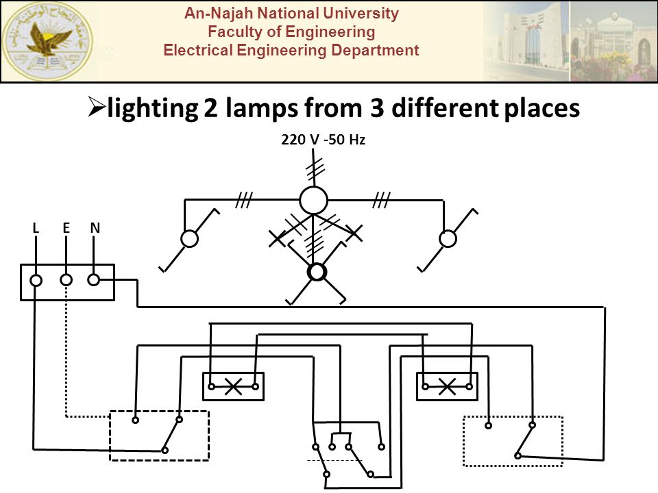 lighting 2 lamps from 3 different places