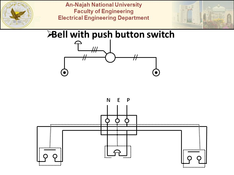 Bell with push button switch