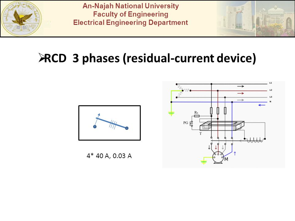 RCD 3 phases (residual-current device)