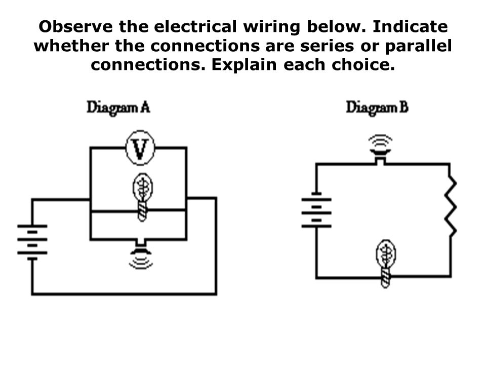Observe the electrical wiring below
