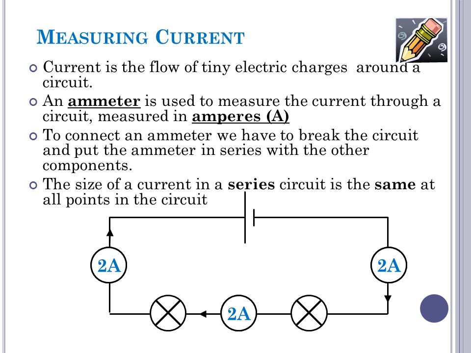 Measuring Current 2A A A 2A 2A A
