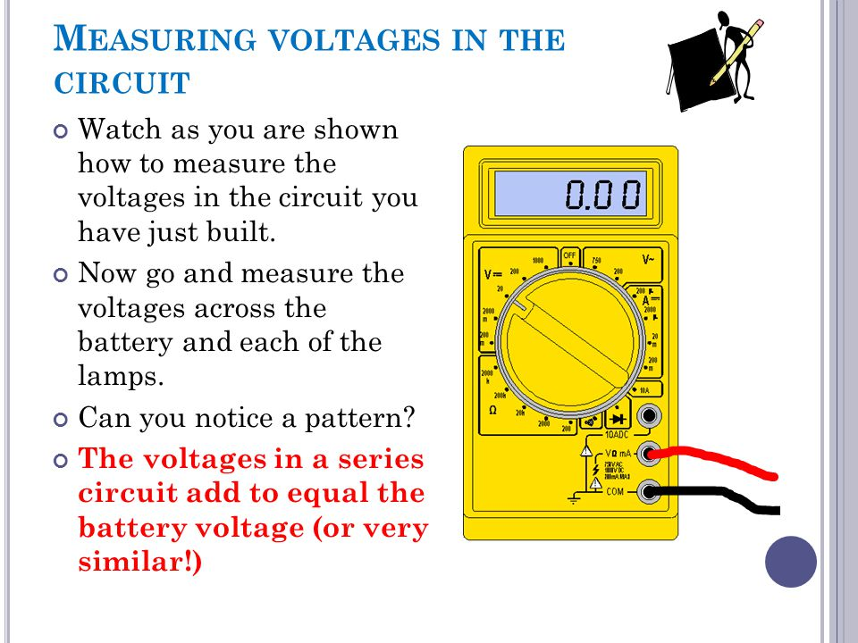 Measuring voltages in the circuit