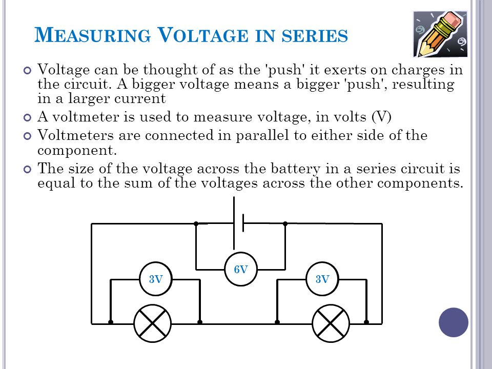 Measuring Voltage in series