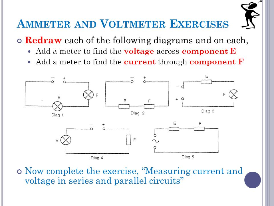 Ammeter and Voltmeter Exercises