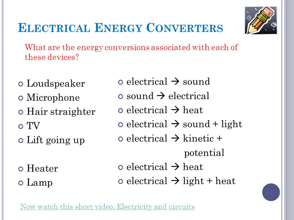 Electrical Energy Converters