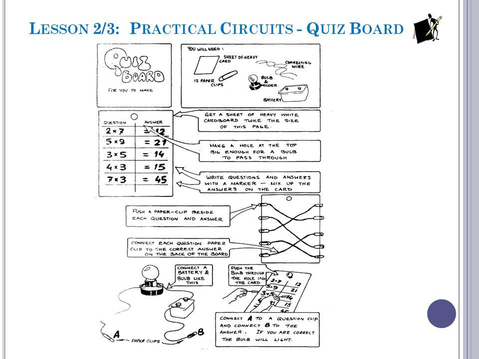 Lesson 2/3: Practical Circuits - Quiz Board