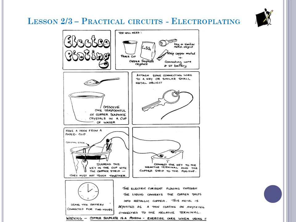 Lesson 2/3 – Practical circuits - Electroplating