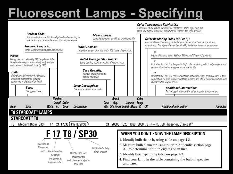 Fluorescent Lamps - Specifying