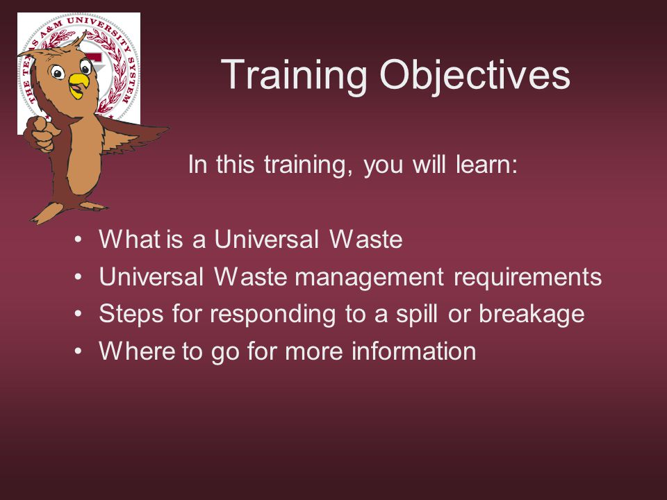 In this training, you will learn: