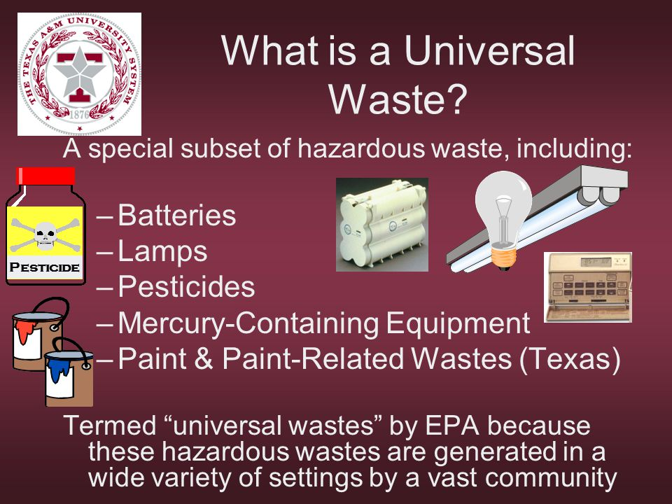 What is a Universal Waste
