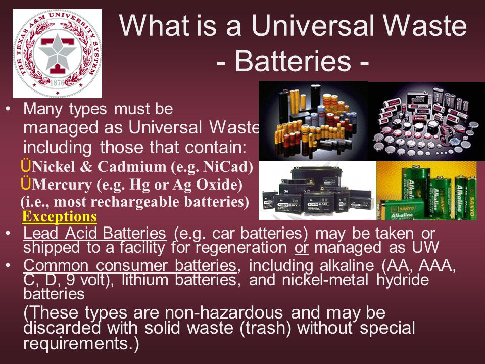 What is a Universal Waste - Batteries -