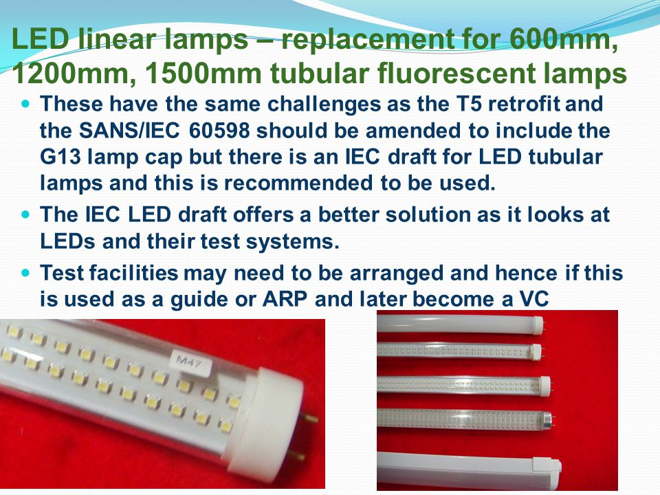 LED linear lamps – replacement for 600mm, 1200mm, 1500mm tubular fluorescent lamps