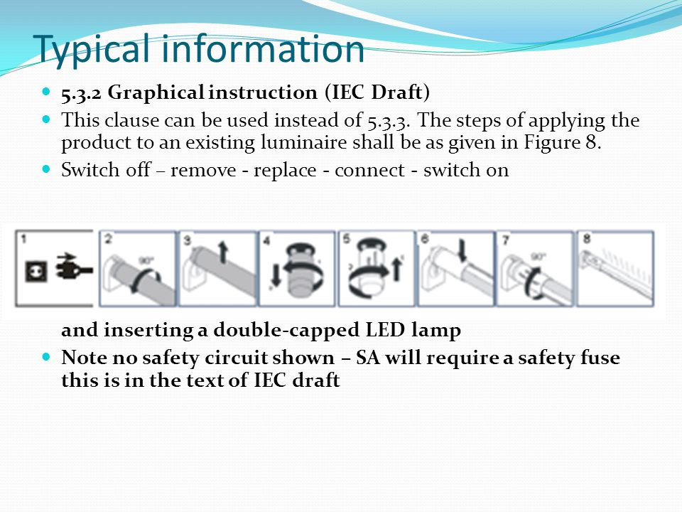 Typical information 5.3.2 Graphical instruction (IEC Draft)