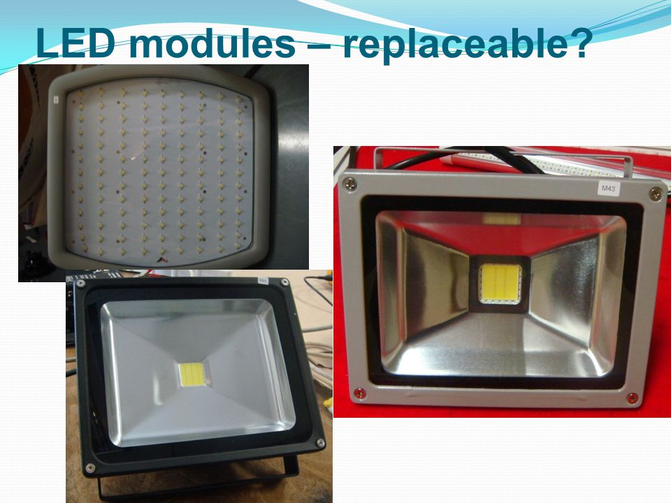 LED modules – replaceable