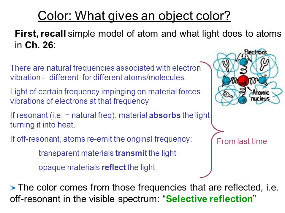 Color: What gives an object color