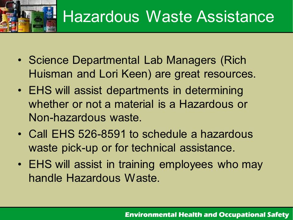 Hazardous Waste Assistance