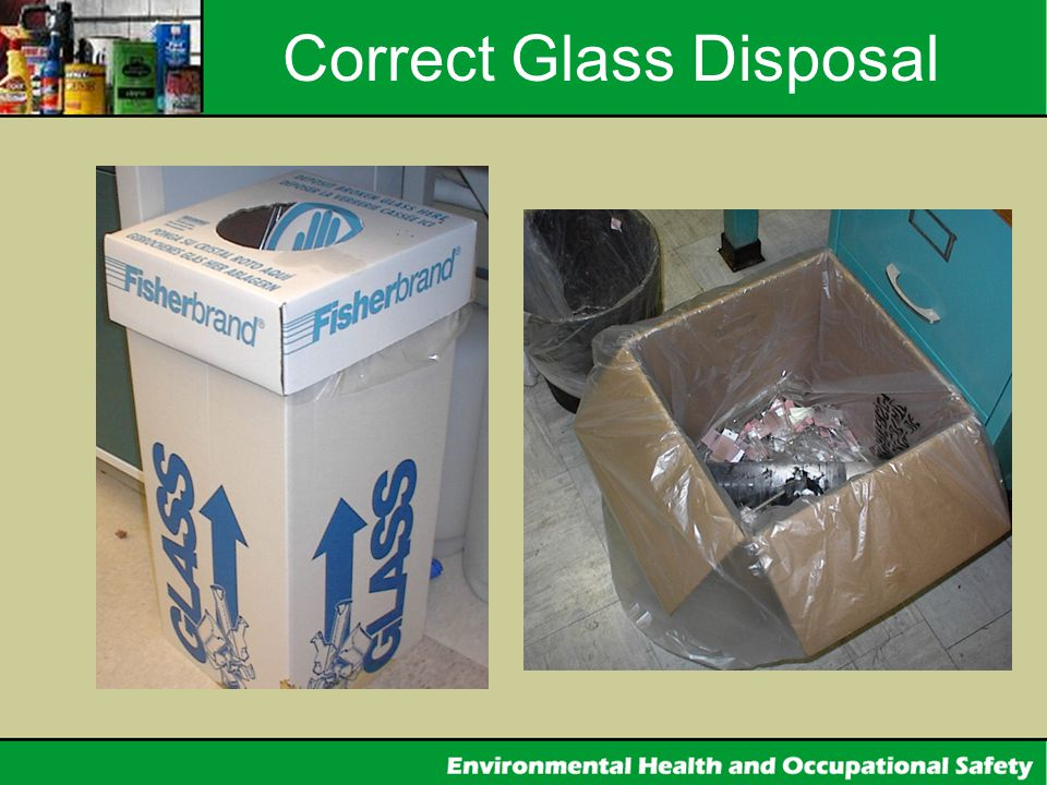 Correct Glass Disposal