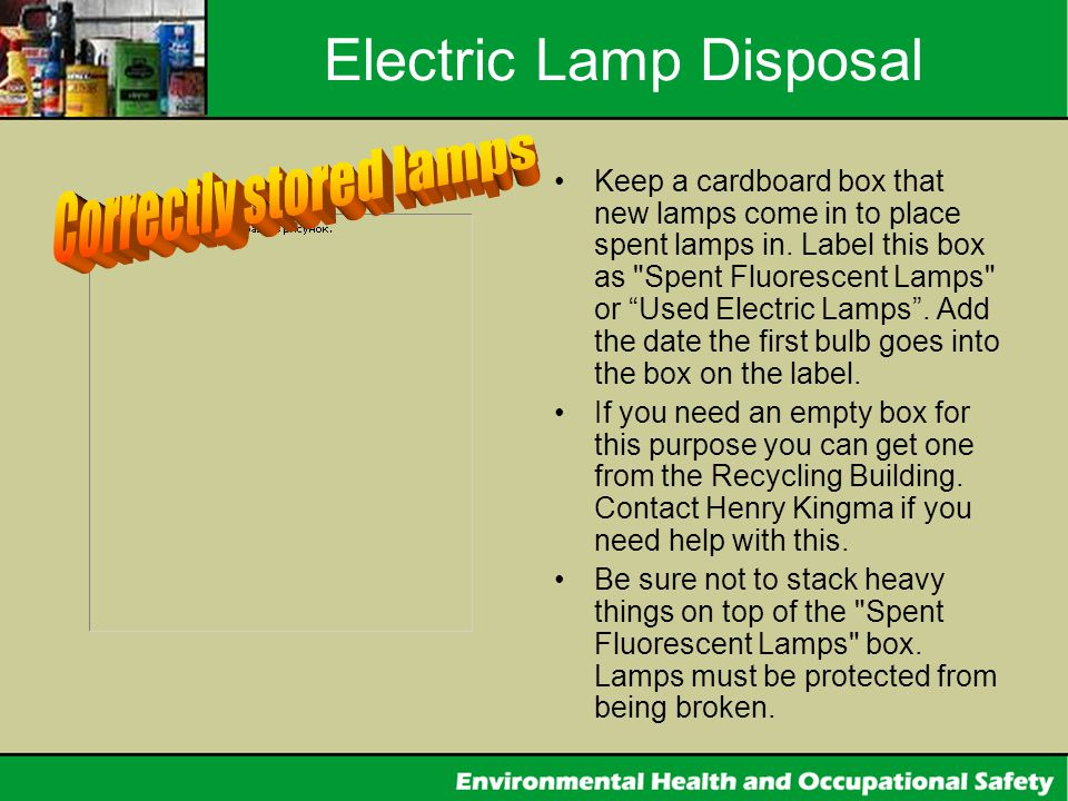 Electric Lamp Disposal