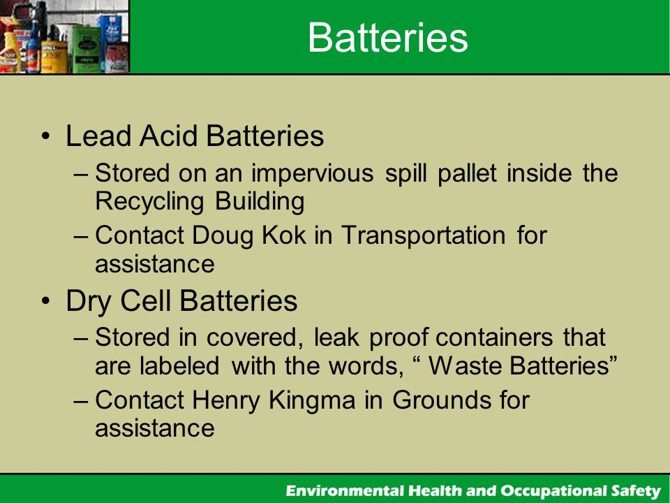 Batteries Lead Acid Batteries Dry Cell Batteries
