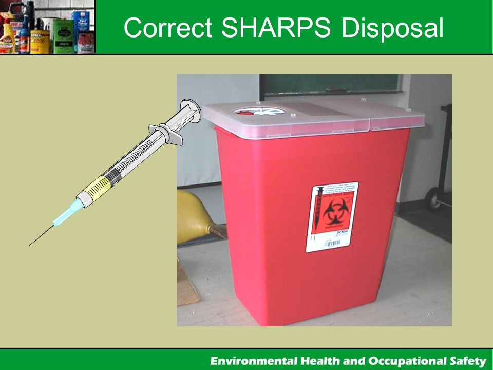 Correct SHARPS Disposal