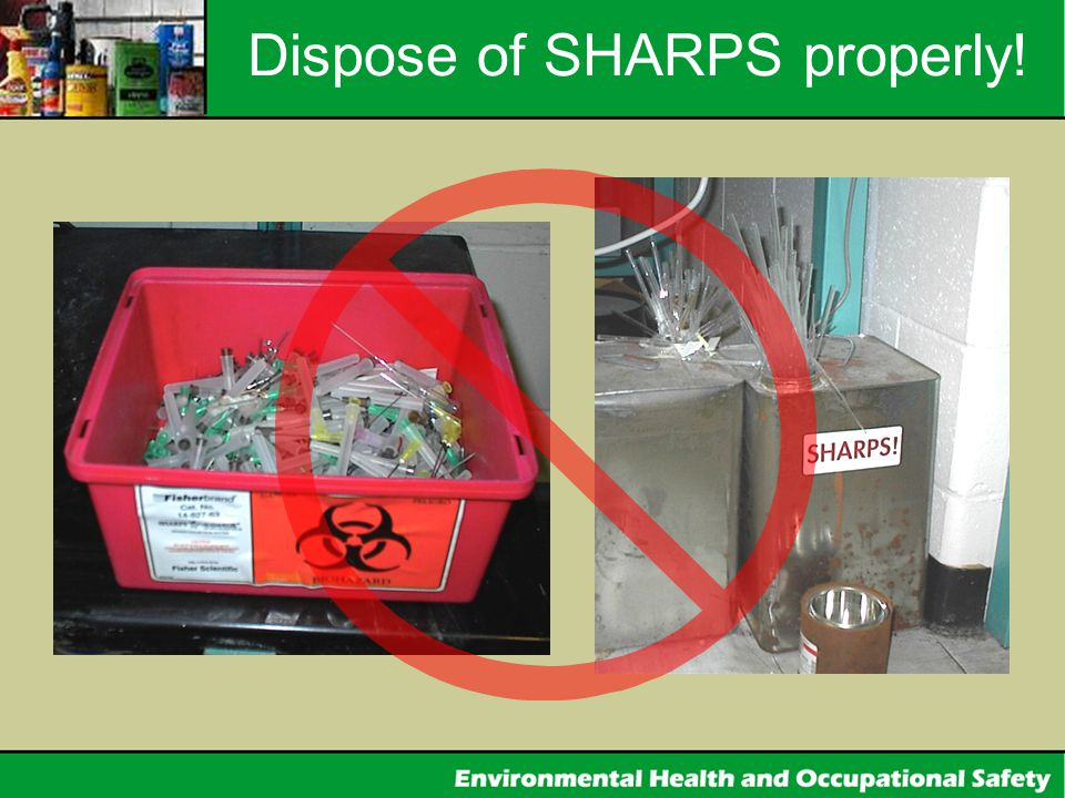 Dispose of SHARPS properly!