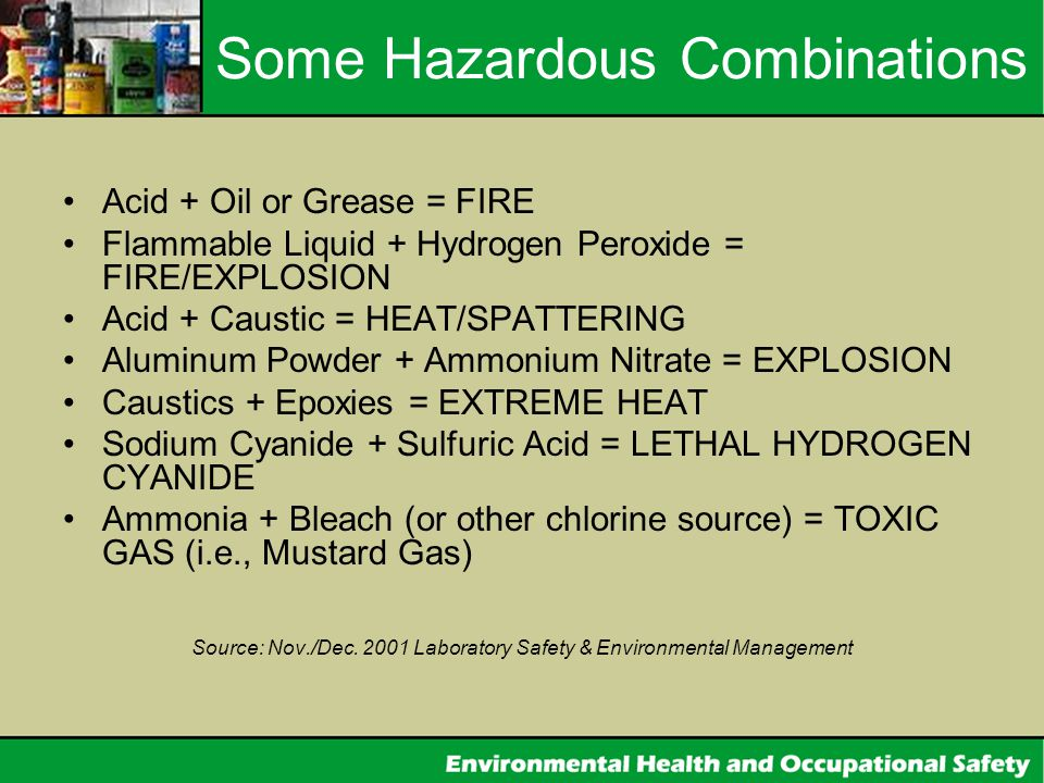 Some Hazardous Combinations