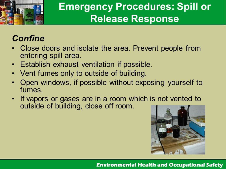 Emergency Procedures: Spill or Release Response