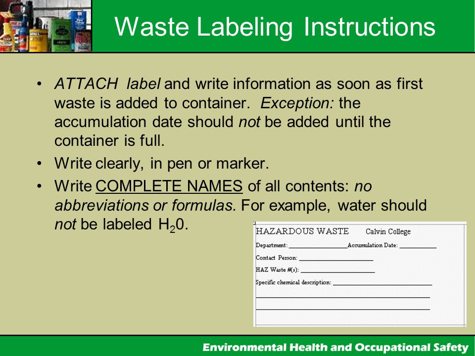 Waste Labeling Instructions