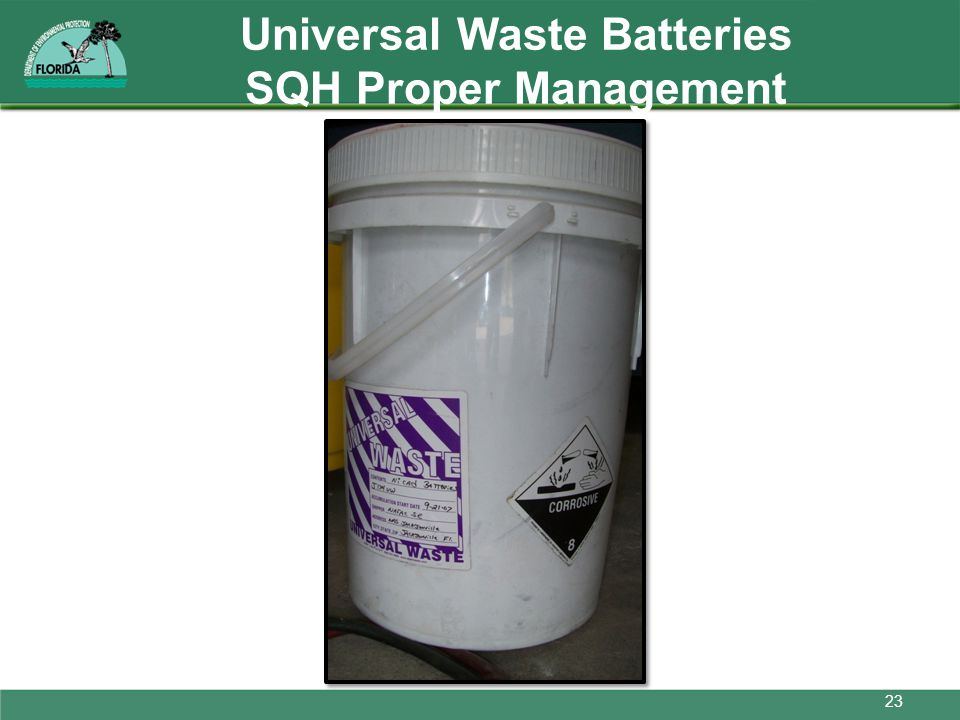 Universal Waste Batteries SQH Proper Management