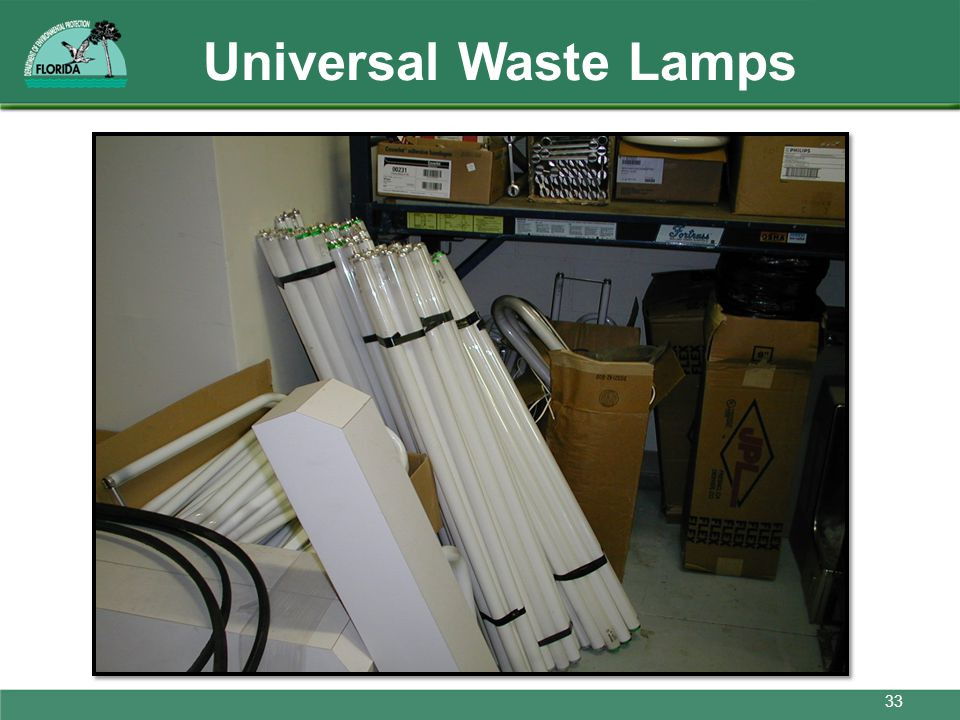 Universal Waste Lamps